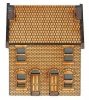 N-HS002 Low Relief Front Victorian Double Terraced Houses N Gauge Laser Cut Kit