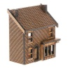 N-SH004 Low Relief Victorian Shop /  House Right Hand N Gauge Laser Cut Kit