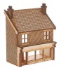 SH010 Victorian Shop Type 2 Low Relief Front Left Hand OO Gauge Laser Cut Kit