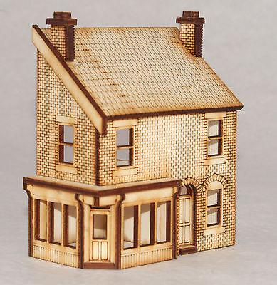 SH003 Low Relief Victorian Shop/Terraced House Left Hand OO Gauge Laser Cut Kit