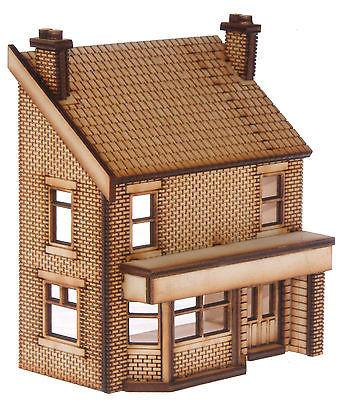 PB003 Low Relief Victorian Terraced Pub Left Hand OO Gauge Laser Cut Kit