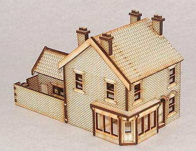 SH001 Victorian Shop / Terraced House Left Hand OO Gauge Laser Cut Kit