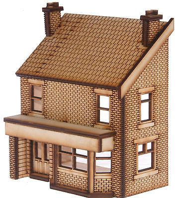 PB004 Low Relief Victorian Terraced Pub RIght Hand OO Gauge Laser Cut Kit