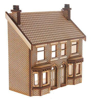 HS014 Low Relief Victorian Double Bay Window Terraced Houses OO Gauge Laser Cut