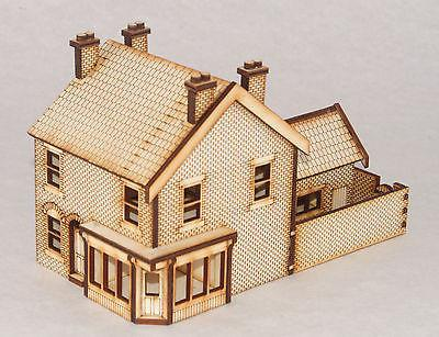 SH002 Victorian Shop / Terraced House Right Hand OO Gauge Laser Cut Kit