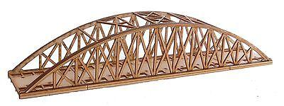 BR014 Single Track Mid Length Bowstring Rail Bridge OO Gauge Model Laser Cut Kit