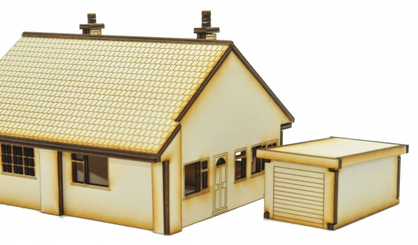 HS016 Semi Detached Bungalows OO Gauge Laser Cut Kit