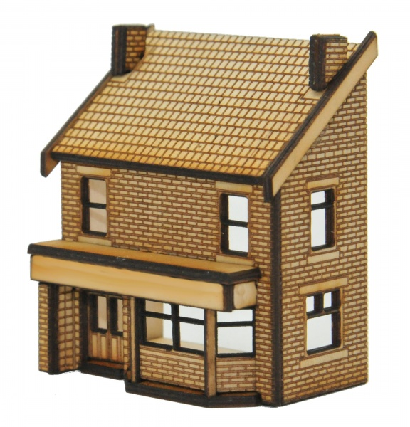 N-PB004 Low Relief Victorian Terraced Pub Right Hand N Gauge Laser Cut Kit