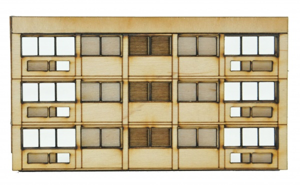 N-FL003 3 Storey Extension for Low Relief Block of Flats N Gauge Laser Cut Kit