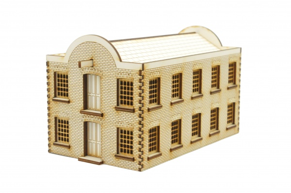 WH001 Warehouse Building Double Loading Doors OO Gauge Laser Cut Kit