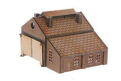 N-ES004 Twin track Engine Shed and Add on Workshop N Gauge Laser Cut Kit