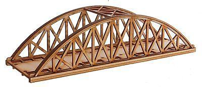 BR012 Single Track Short Bowstring Rail Bridge OO Gauge Model Laser Cut Kit