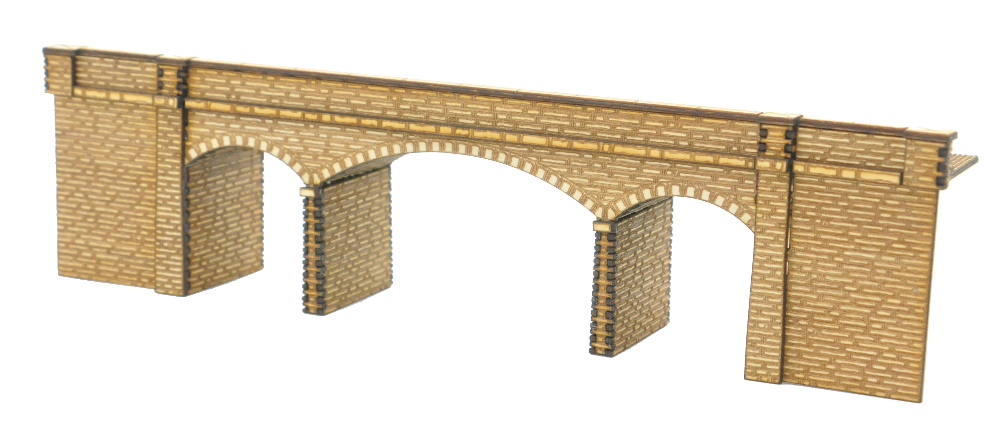 N-BR008 ''Connors Bridge'' Low Relief Road over Rail Bridge N Gauge Laser Cut Kit